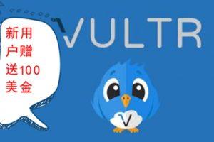 Vultr新用户100美金活动